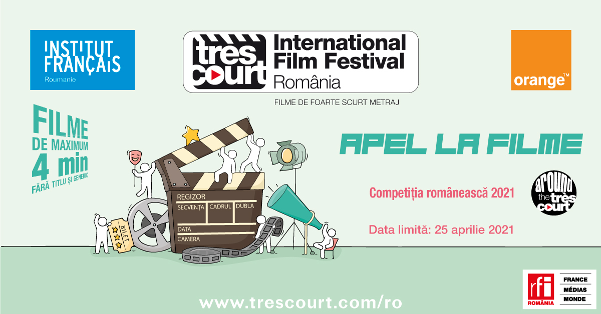 Competiția românească aFestivalului internațional de foarte scurt metraj Très Court 2021