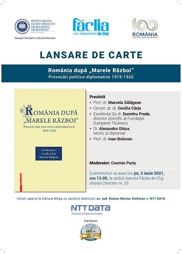 """Eveniment editorial: România după """"Marele Război"""""""