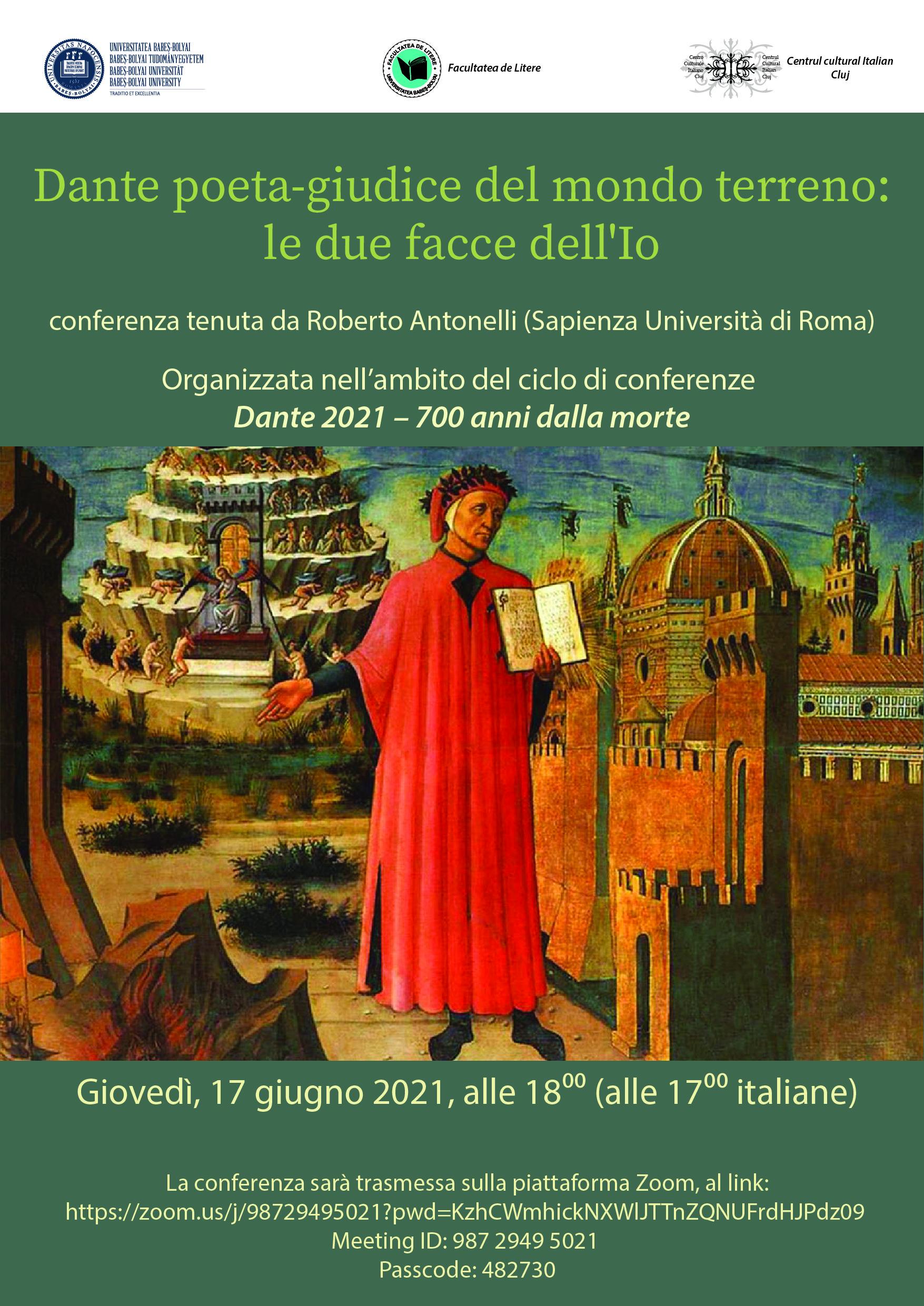 Dante poeta-giudice del mondo terreno: le due facce dell'Io