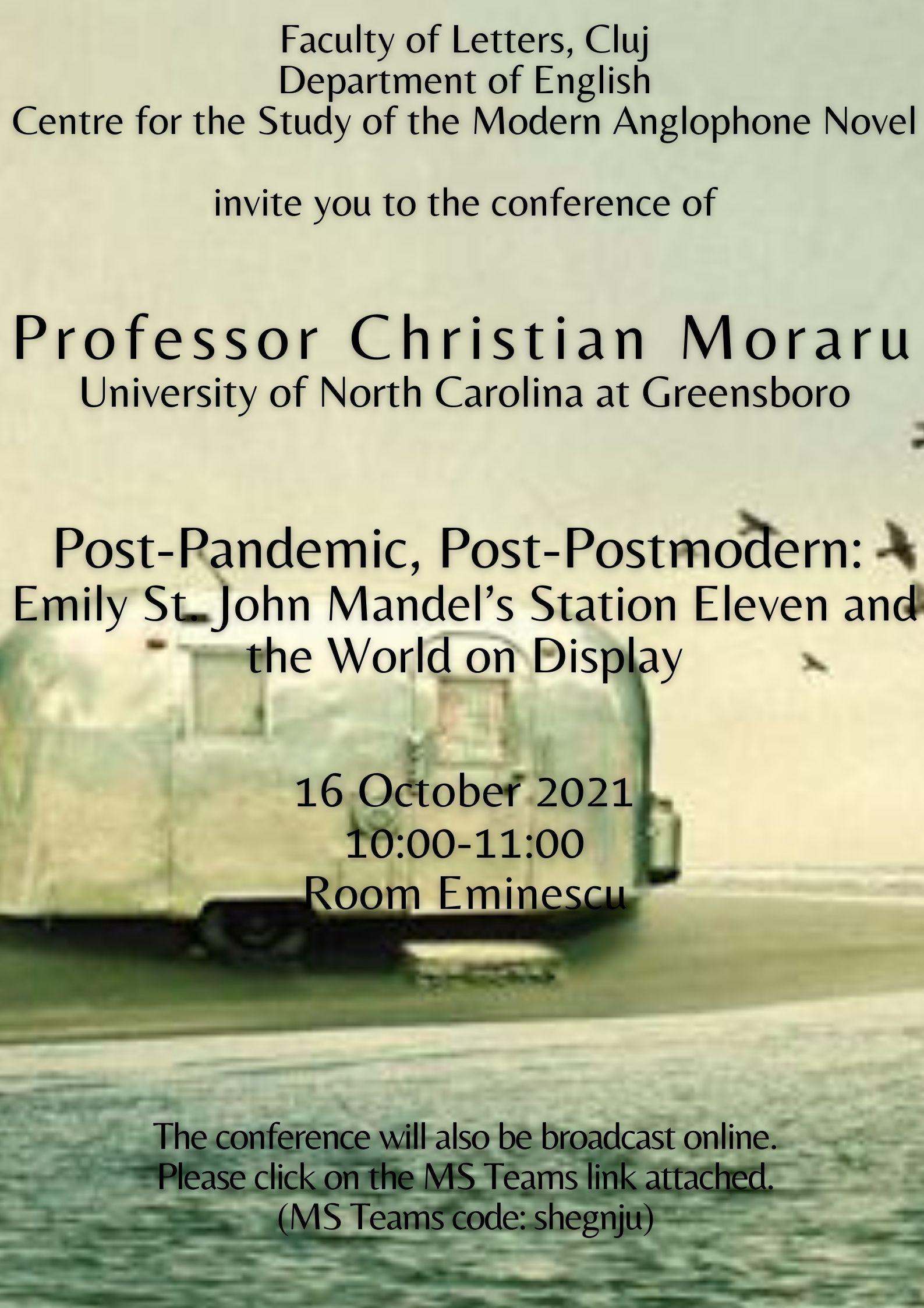 Conferințele Centrului de Cercetare a Romanului Anglofon Contemporan