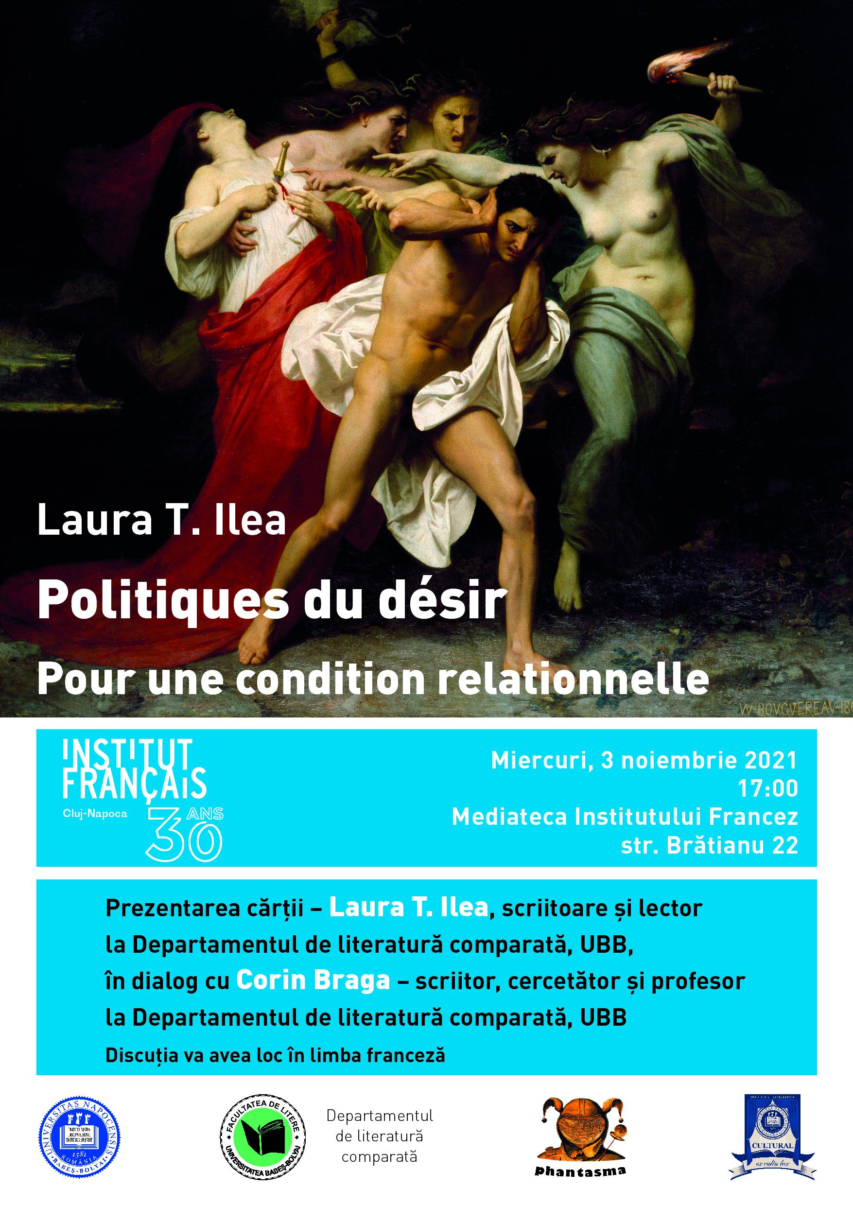 Prezentare de carte, Laura T. Ilea – Politiques du désir: Pour une condition relationnelle